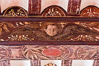 Europe/France/Aquitaine/64/Pyrénées-Atlantiques/Pays-Basque/Saint-Jean-de-Luz: La maison dite de l'Infante, ou maison Haraneder, demeure d'Anne d'Autriche, où l'Infante Marie-Thérèse logea. Le nom initial de la maison est Joanoenia, c'est-à-dire la maison de Jeannot de Haraneder - Détail des poutres peintes du salon
