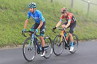 22nd May 2021, Monte Zoncolan, Italy; Giro d'Italia, Tour of Italy, route stage 14, Cittadella to Monte Zoncolan; Lorenzo Fortunato (ITA) Eolo and Jan Tratnik (Bahrain Victorious)