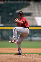 Arizona Diamondbacks pitcher Bo Takahashi (17) during an instructional league game against the San Francisco Giants on October 16, 2015 at the Chase Field in Phoenix, Arizona.  (Mike Janes/Four Seam Images)