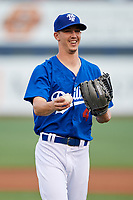 Tulsa Drillers starting pitcher Walker Buehler (4) during a game against the Corpus Christi Hooks on June 3, 2017 at ONEOK Field in Tulsa, Oklahoma.  Corpus Christi defeated Tulsa 5-3.  (Mike Janes/Four Seam Images)