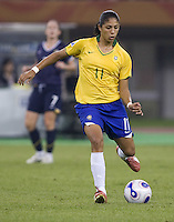Brazil forward (11) Cristiane. Brazil defeated Australia, 3-2 during the quarterfinals of the FIFA Women's World Cup at Tianjin Olympic Center Stadium in Tianjin, China on September 23, 2007.