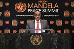 Opening Plenary Meeting of the Nelson Mandela Peace Summit<br /> <br /> Sudan FM