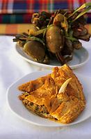 Europe/France/DOM/Antilles/Petites Antilles/Guadeloupe/Pointe-à-Pitre : Le feuilleté de crabe de Viviane Madacomobe lors de la fête des cuisinières