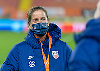 BREDA, NETHERLANDS - NOVEMBER 27: Erica Dambach of the USWNT stands on the field before a game between Netherlands and USWNT at Rat Verlegh Stadion on November 27, 2020 in Breda, Netherlands.