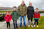 Enjoying a stroll in Lohercanon on Sunday, l to r: Rachel and Tadgh Lawlor, Anthony Daly, Ciara O'Keeffe and Jack Lawlor