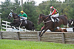 1 October 2011: Elusive Prince and Roddy Mackenzie (left) win the James P. McCormick timber race at Virginia Fall Races in Middleburg, Va. I'm a Hokie and Ross Geraghty (right) were fourth. and Joey Elliot were second. Elusive Prince is owned by Irvin Naylor and trained by Katherine McKenna. Susan M. Carter/Eclipse Sportswire