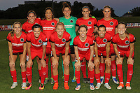 Piscataway, NJ - Sunday Sept. 25, 2016: Portland Thorns Starting 11 prior to a regular season National Women's Soccer League (NWSL) match between Sky Blue FC and the Portland Thorns FC at Yurcak Field.