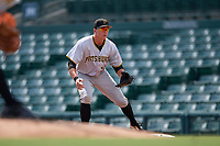 Pittsburgh Pirates Mason Martin (7) during an Instructional League game against the Baltimore Orioles on September 27, 2017 at Ed Smith Stadium in Sarasota, Florida.  (Mike Janes/Four Seam Images)