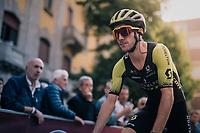 Adam Yates (GBR/Mitchelton-Scott) to the start<br /> <br /> 99th Milano - Torino 2018 (ITA)<br /> from Magenta to Superga: 200km