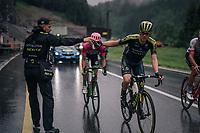 last bottle for Christopher Juul-Jensen (DEN/Mitchelton-Scott) up the final climb<br /> <br /> Stage 4: Gansingen > Gstaad (189km)<br /> 82nd Tour de Suisse 2018 (2.UWT)