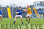 Jack Barry, Kerry in action against Brian Conlon, Meath during the Allianz Football League Division 1 Round 4 match between Kerry and Meath at Fitzgerald Stadium in Killarney, on Sunday.