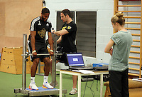 Pictured: Ashley Williams Tuesday 30 June 2015<br /> Re: Pre-season assessment of Swansea City FC players on the grounds of Swansea University, south Wales, UK