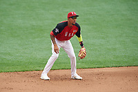 Team USA shortstop JP Crawford (3) during the MLB All-Star Futures Game on July 12, 2015 at Great American Ball Park in Cincinnati, Ohio.  (Mike Janes/Four Seam Images)