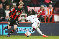 Marvin Emnes of Swansea City during the Barclays Premier League match between AFC Bournemouth and Swansea City played at The Vitality Stadium, Bournemouth on March 12th 2016
