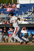 Aberdeen Ironbirds right fielder Mike Odenwaelder (41) at bat during a game against the Batavia Muckdogs on July 14, 2016 at Dwyer Stadium in Batavia, New York.  Aberdeen defeated Batavia 8-2. (Mike Janes/Four Seam Images)