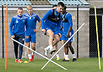 St Johnstone Training….01.10.20     <br />Callum Booth pictured during training at McDiarmid Park ahead of Sundays game against Celtic.<br />Picture by Graeme Hart.<br />Copyright Perthshire Picture Agency<br />Tel: 01738 623350  Mobile: 07990 594431