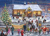 Marcello, CHRISTMAS LANDSCAPES, WEIHNACHTEN WINTERLANDSCHAFTEN, NAVIDAD PAISAJES DE INVIERNO, paintings+++++,ITMCXM1842A,#XL# ,puzzle