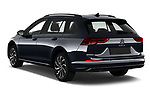 Car pictures of rear three quarter view of 2021 Volkswagen Golf-Variant Life-HEV 5 Door Wagon Angular Rear