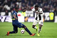 Nicholas Opoku of Udinese , Moise Kean of Juventus <br /> Torino 8-03-2018 Allianz Stadium Football Serie A 2018/2019 Juventus - Udinese <br /> photo Matteo Gribaudi / Image Sport / Insidefoto