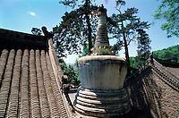 China, Peking, Stupa im Tan Zhe Si-Tempel