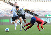 Swansea City's Ben Cabango battles with Huddersfield Town's Juninho Bacuna<br /> <br /> Photographer Ian Cook/CameraSport<br /> <br /> The EFL Sky Bet Championship - Swansea City v Huddersfield Town - Saturday 17th October 2020 - Liberty Stadium - Swansea<br /> <br /> World Copyright © 2020 CameraSport. All rights reserved. 43 Linden Ave. Countesthorpe. Leicester. England. LE8 5PG - Tel: +44 (0) 116 277 4147 - admin@camerasport.com - www.camerasport.com