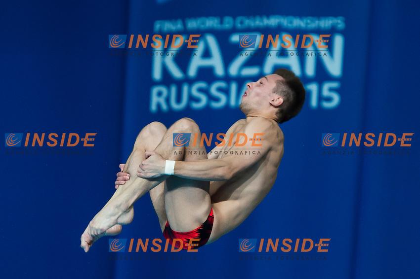 ZAKHAROV Ilia RUS<br /> Diving - Men's 10m Platform final<br /> Day 10 02/08/2015<br /> XVI FINA World Championships Aquatics Swimming<br /> Kazan Tatarstan RUS July 24 - Aug. 9 2015 <br /> Photo Giorgio Perottino/Deepbluemedia/Insidefoto
