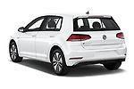 Car pictures of rear three quarter view of a 2019 Volkswagen e-Golf SEL Premium 5 Door Hatchback angular rear