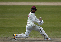 16th April 2021; Emirates Old Trafford, Manchester, Lancashire, England; English County Cricket, Lancashire versus Northants; Saif Zaib of Northamptonshire clips off legs and is caught by Steven Croft