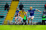 Cathal McCabe, Meath in action against Brendan O'Leary, Kerry, during the Round 1 meeting of Kerry and Meath in the Joe McDonagh Cup at Austin Stack Park in Tralee on Sunday.