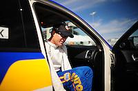 Mar. 30, 2012; Las Vegas, NV, USA: NHRA funny car driver Ron Capps during qualifying for the Summitracing.com Nationals at The Strip in Las Vegas. Mandatory Credit: Mark J. Rebilas-