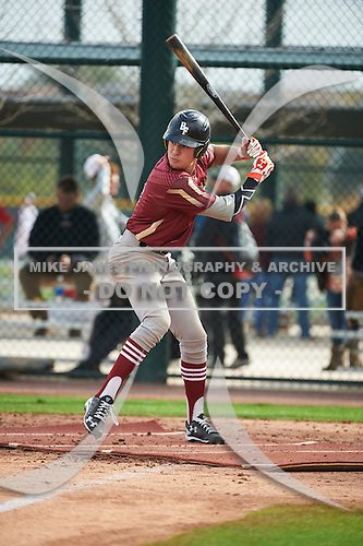 Raynel Delgado (9) of Mater Academy High School in MIAMI LAKES, Florida during the Under Armour All-American Pre-Season Tournament presented by Baseball Factory on January 14, 2017 at Sloan Park in Mesa, Arizona.  (Art Foxall/Mike Janes Photography)