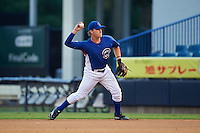 Alex Brewer (51) of Forrest High School in Lewisburg, Tennessee playing for the Chicago Cubs scout team during the East Coast Pro Showcase on July 27, 2015 at George M. Steinbrenner Field in Tampa, Florida.  (Mike Janes/Four Seam Images)