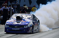 Sept. 14, 2012; Concord, NC, USA: NHRA pro stock driver Jason Line during qualifying for the O'Reilly Auto Parts Nationals at zMax Dragway. Mandatory Credit: Mark J. Rebilas-