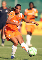 Rosana #11 of Sky Blue FC makes a pass during a WPS match against the Washington Freedom at RFK Stadium on May 23, 2009 in Washington D.C. Freedom won the match 2-1