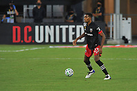 WASHINGTON, DC - SEPTEMBER 12: Donovan Pines #23 of D.C. United moves the ball during a game between New York Red Bulls and D.C. United at Audi Field on September 12, 2020 in Washington, DC.