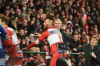 KV KORTRIJK - STANDARD LUIK :<br /> Teddy Chevalier (9) geniet met de supporters na de zege<br /> <br /> Foto VDB / Bart Vandenbroucke