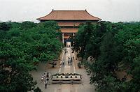 China, Peking, Minggräber, Grab Changling, Blick vom Stelenturm, Unesco-Weltkulturerbe