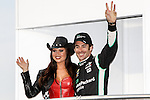 SIMON  PAGENAUD appears at the driver introductions before the Verizon Indy Car Firestone 600 race at Texas Motor Speedway in Fort Worth,Texas.