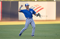 Dunedin Blue Jays outfielder Zach Britton (6) throws the ball in during a game against the Tampa Tarpons on May 7, 2021 at George M. Steinbrenner Field in Tampa, Florida.  (Mike Janes/Four Seam Images)