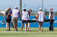 Bradenton, FL - Sunday, June 12, 2018: Medical staff prior to a U-17 Women's Championship 3rd place match between Canada and Haiti at IMG Academy. Canada defeated Haiti 2-1.