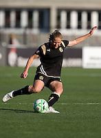 Rachel Buehler kicks the ball. FC Gold Pride tied the Chicago Red Stars 1-1 at Buck Shaw Stadium in Santa Clara, California on June 7th, 2009.
