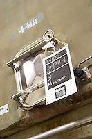 tank door sign on tank syrah domaine sang des cailloux vacqueyras rhone france