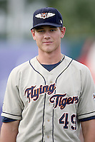August 14, 2008: Ryan Perry (49) of the Lakekand Flying Tigers at Hammond Stadium in Fort Meyers, FL. Photo by: Chris Proctor/Four Seam Images