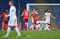 Ilkay Guendogan (Deutschland) aergert sich nach dem 1-1: im Hintergrund jubelt Torschuetze Silvan Widmer (Schweiz).<br /> Sport: Fussball: UEFA Nations League: 2. Spieltag: Schweiz - Deutschland, 06.09.2020<br /> <br /> Foto: Markus Gilliar/GES/POOL/Marc Schüler/Sportpics.de
