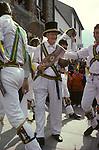 The Mayor of Ock Street, Abingdon Oxfordshire UK.  Abingdon Morris dancers.