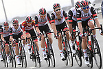 UAE Team Emrates in action during Stage 5 of the 2021 UAE Tour running 170km from International Marine Club Fujairah to Jebel Jais, Fujairah, UAE. 25th February 2021. <br /> Picture: LaPresse/Fabio Ferrari   Cyclefile<br /> <br /> All photos usage must carry mandatory copyright credit (© Cyclefile   LaPresse/Fabio Ferrari)