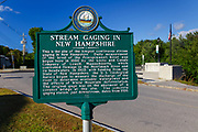 Plymouth, New Hampshire - The site of the longest continuous stream gaging in New Hampshire. This site is along the Pemigewasset River in downtown Plymouth.