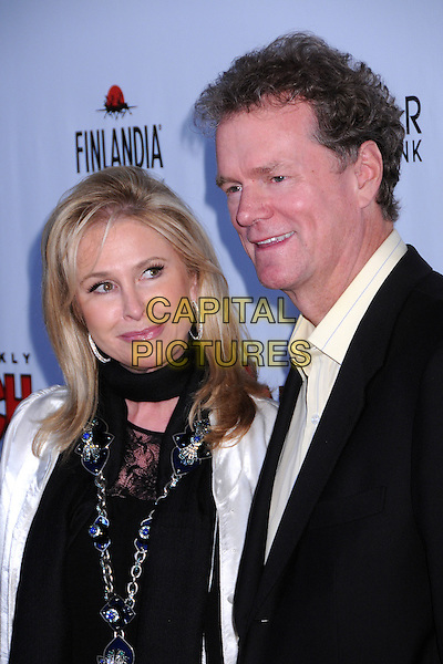 KATHY HILTON & RICK HILTON.In Touch Weekly's Summer Stars Party 2008 at Social Hollywood, Hollywood, California, USA..May 22nd, 2008.headshot portrait black scarf necklace married husband wife  .CAP/ADM/BP.©Byron Purvis/AdMedia/Capital Pictures.