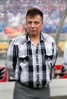 Guatemala head coach Ever Hugo Almeida watches his team at RFK Stadium in Washington, DC.  Guatemala tied Paraguay, 3-3.