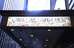 """Theatre Marquee unveiling for the Taylor Mac Comedy """"Gary: A Sequel to Titus Andronicus"""" starring Nathan Lane and Andrea Martin with direction by George C. Wolfe and art work by Ralph Steadman at the Booth Theatre on February 8, 2019 in New York City."""